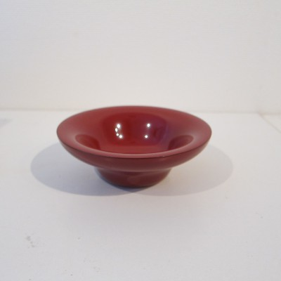 Red lacquer small flat bowl