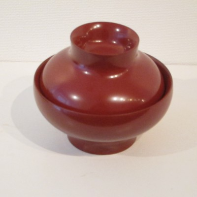 Red Lacquer Bowl with Lid